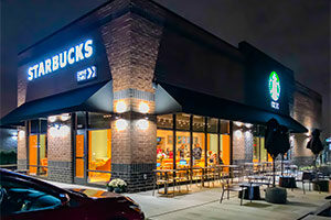 Chicago Ridge Starbucks drive through